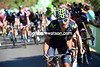 Francisco Ventoso starts attacking the final climb...
