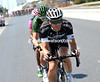 Iljo Keisse is all smiles at their game as he pulls the trio away from the peloton...
