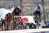 A milestone in cycling - Ewan comes past John Degenkolb in the uphill sprint...