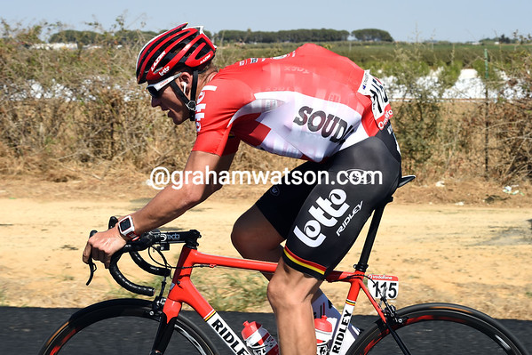 Grand Tour maestro Adam Hansen is still a worker too - but he has just six bottles to carry..