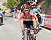 Tosh Van der Sande has appeared in front on the first ascent of the Cresta del Gallo...