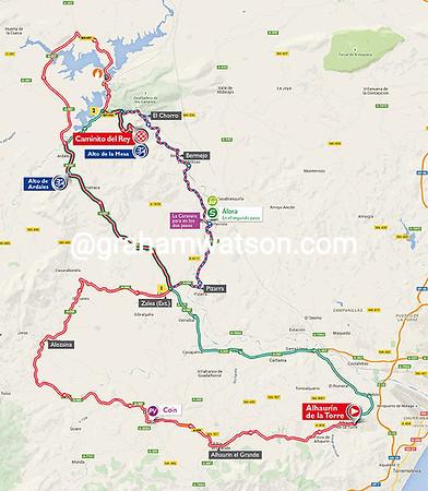 Vuelta a España stage 2: Alhaurin de la Torre > Caminito del Rey, 159kms