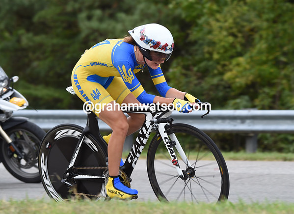 """Ganna Solovei of the Ukraine took 16th place, 1' 38.50"""" down..."""