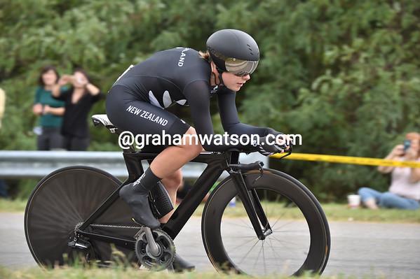 New Zealand's Linda Villusen won the TT World Championship at a speed of 44.999-kilometres-per-hour..!