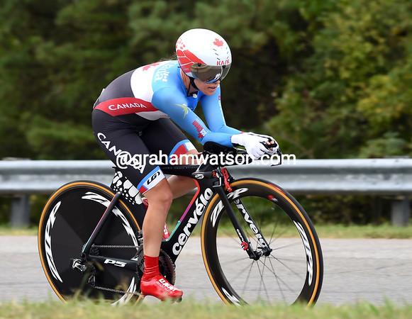"Canada's Karol-Ann Canuel took 15th place, 1' 32.49"" behind..."