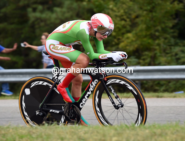 "Alena Amialiusik of BeloRus took 8th, 1' 06.03"" down..."