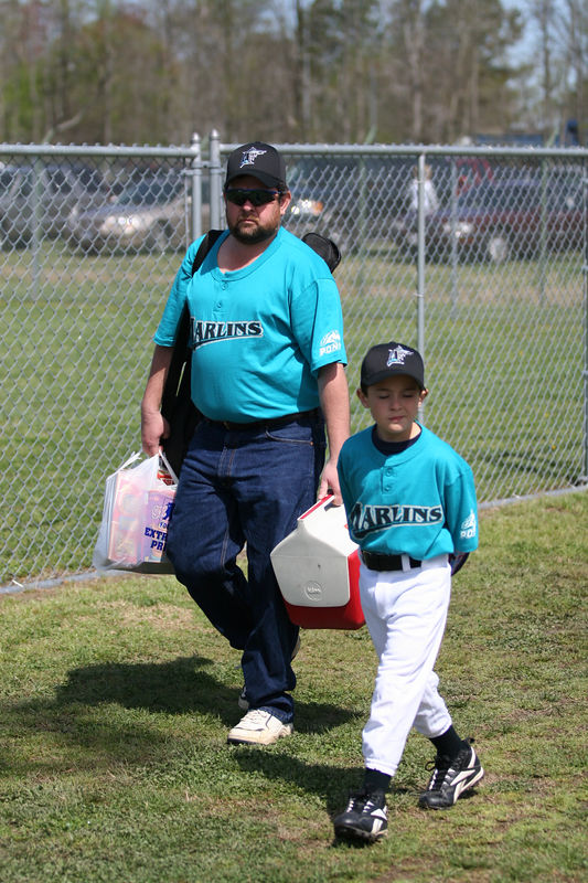 The first day or the Pony baseball season.