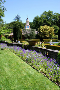 Filoli gardens and clock tower.