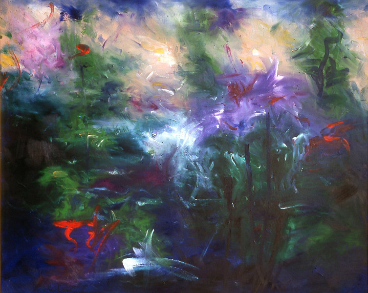 94-02-144 La Primavera<br /> 30x36 Original oil on canvas<br /> Available as 30x36 giclee.