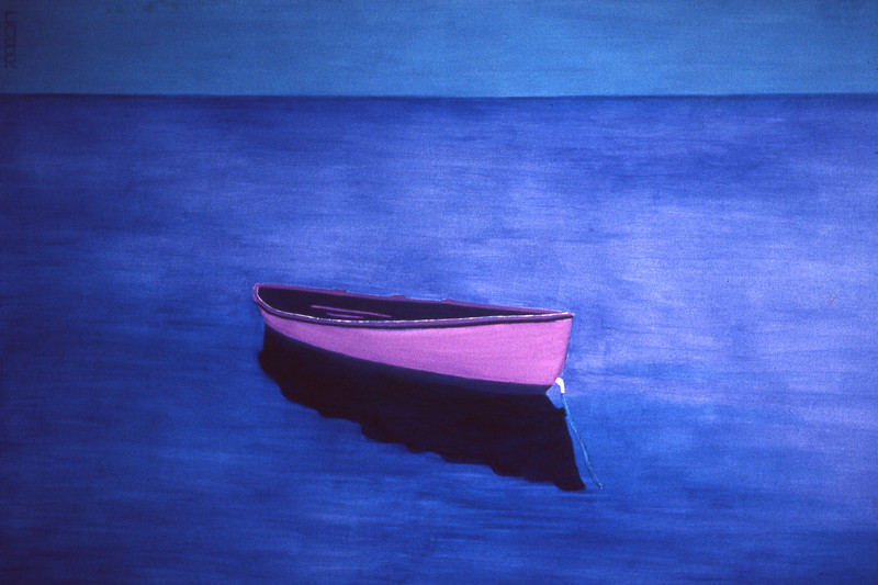 8001 Dory<br /> 48x72 Oil on canvas<br /> Original available; also available as 30x40 or 40x60 giclee.