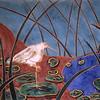 Egret by Pond