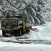 Town of DeWitt plow slipping and sliding during snow storm. Heavy and wet foot of snow.....Mar 12, 2014