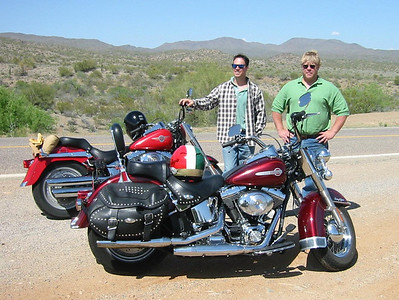 Cruisin' on some rented Hogs in Arizona.....