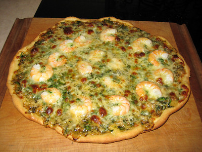 Gaspipe's shrimp and clam pizza.