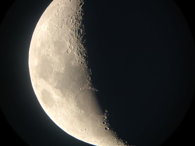 The Moon Aug 2004 in 20 inch Manka telescope