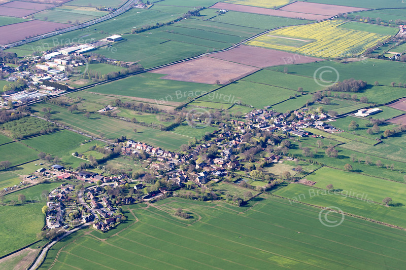 Aerial photo of Askham Bryan.