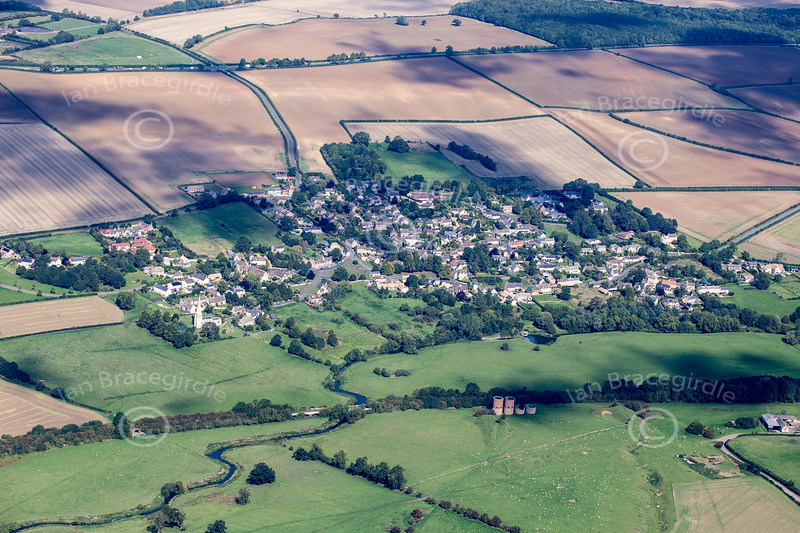 Aerial photo of Barrowden in Rutland.