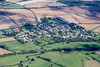 Aerial photo of Barrowden in Rutland.