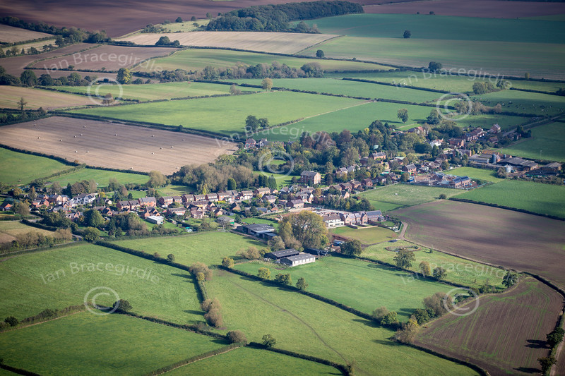 Aerial photo of Barton in the Beans.