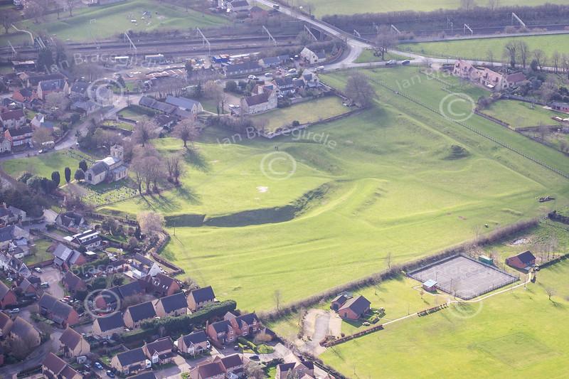 Aerial photo of Castlethorpe.