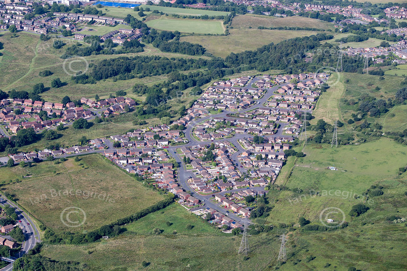 Aerial photo of Chell.