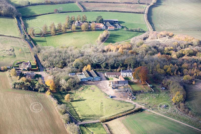Aerial photo of Clipsham.