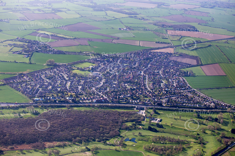 Aerial photo of Copmanthorpe.