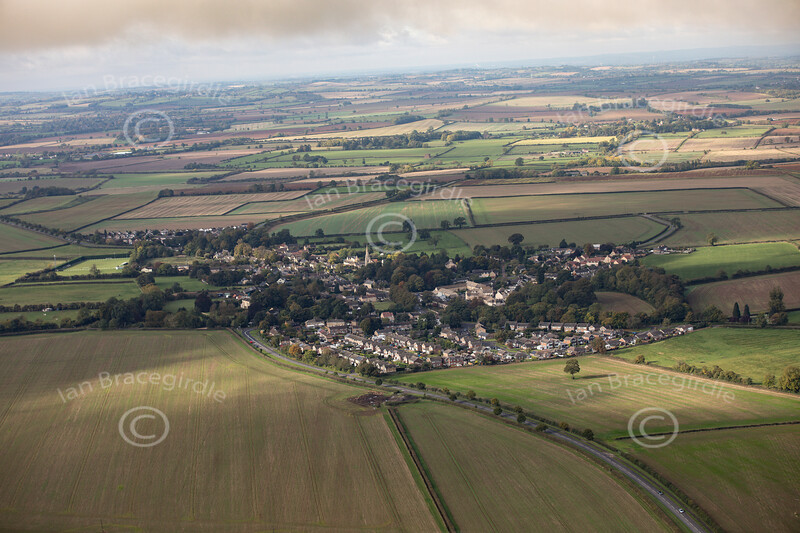 Aerial photo of Cottesmore.