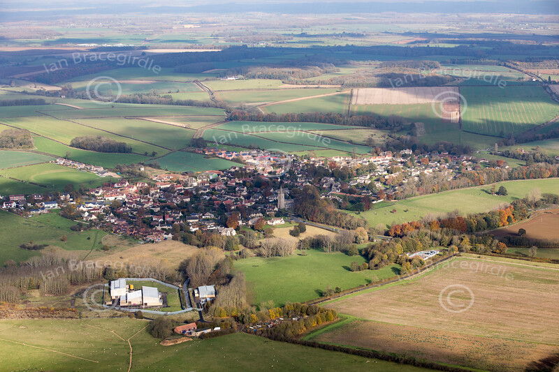 Aerial photo of Empingham.