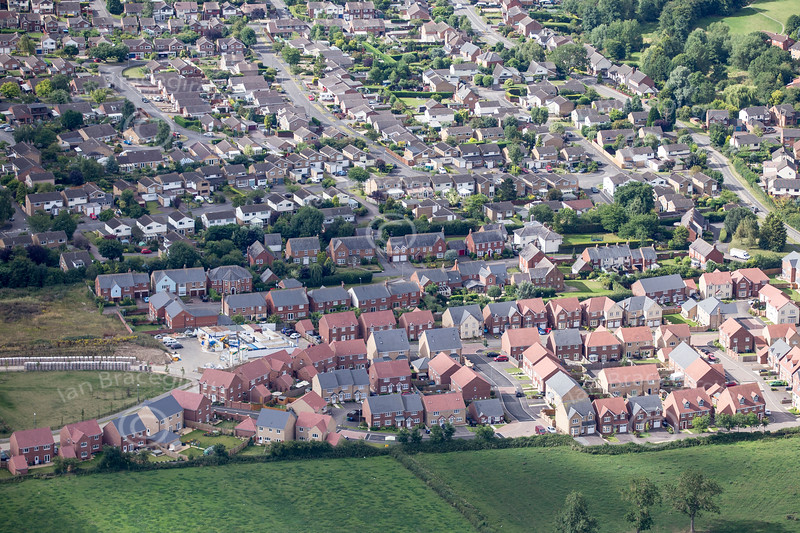 Aerial photos of Great Glen in Leicestershire.