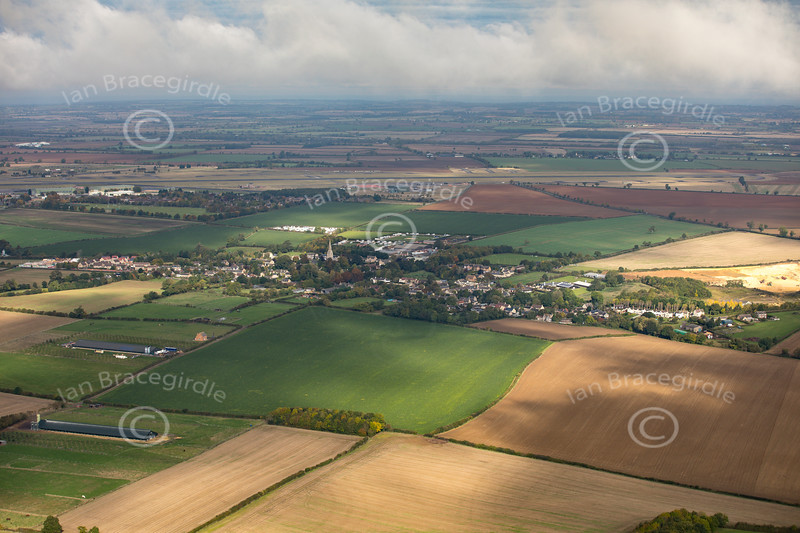 Aerial photo of Greetham.
