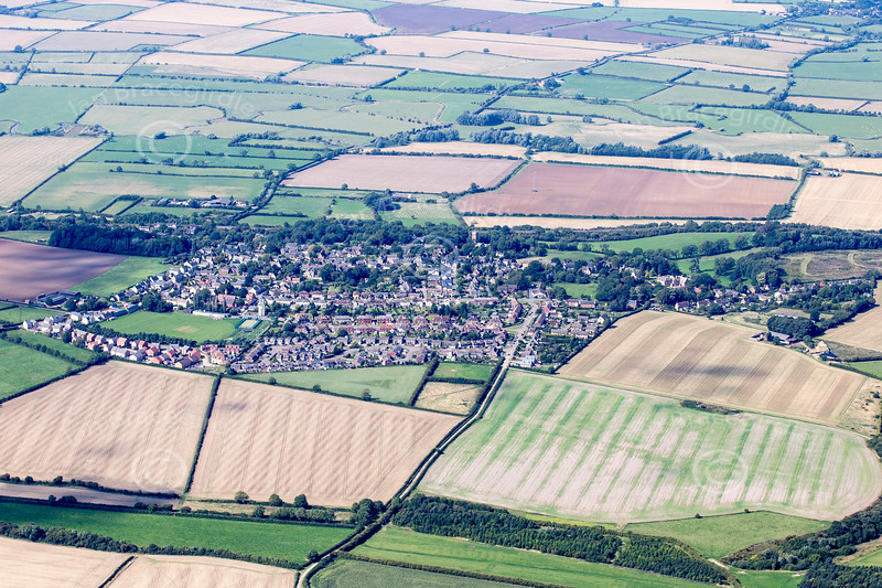 Aerial photos of Gretton in Northamptonshire.