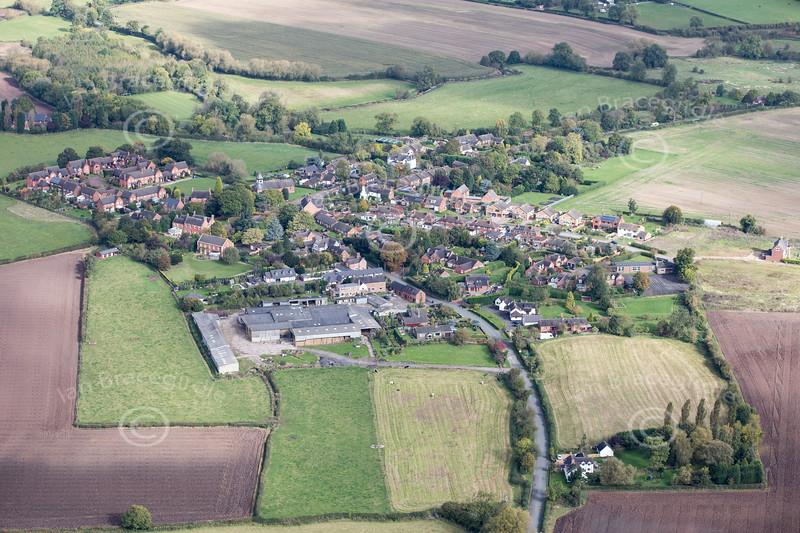 Aerial photo of Harlaston.