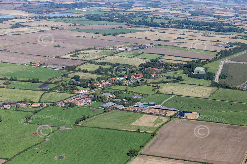 Aerial photos of Harringworth in Northamptonshire.