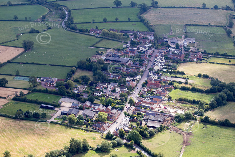 Aerial photos of Kilby in Leicestershire.