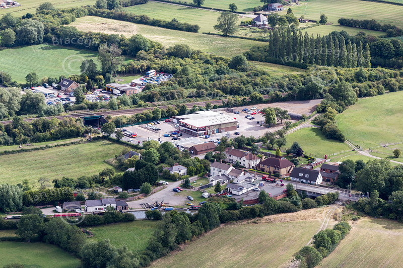 Aerial photos of Kilby Bridge in Leicestershire.