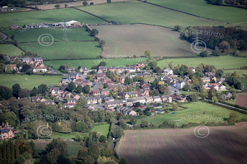Aerial photo of Kirkby Mallory.