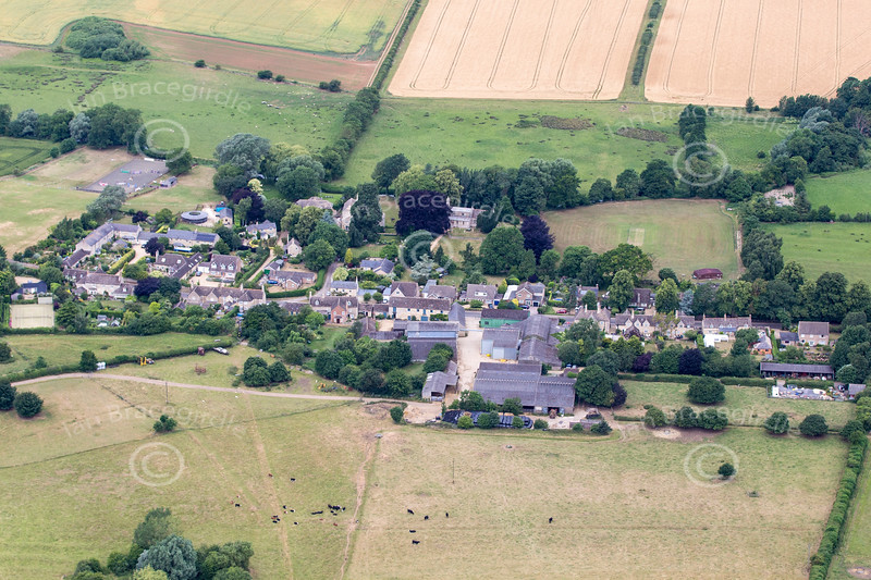 Aerial photo of Little Casterton.