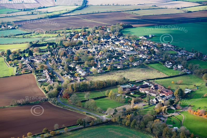 Aerial photo of Market Overton.