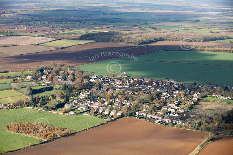 Aerial photo of Market Overton.