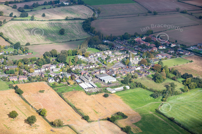Aerial photo of Newton Regis.