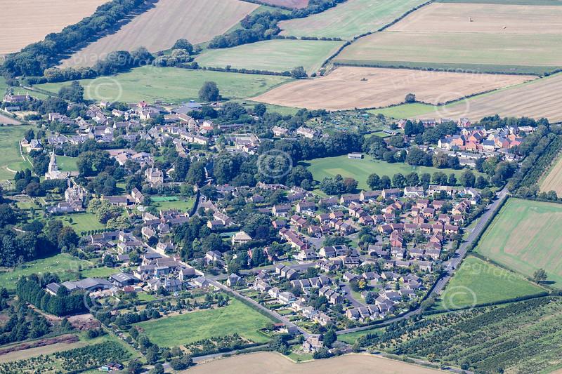 Aerial photo of North Luffenham in Rutland.