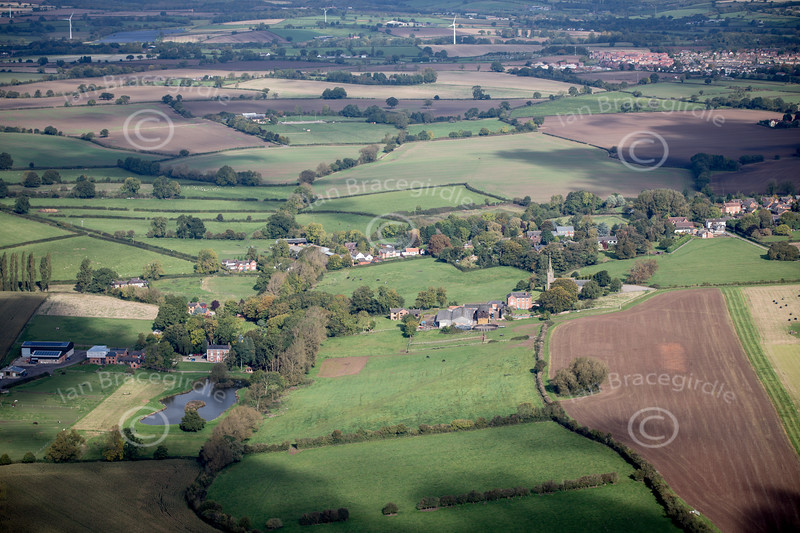 Aerial photo of Peckleton.
