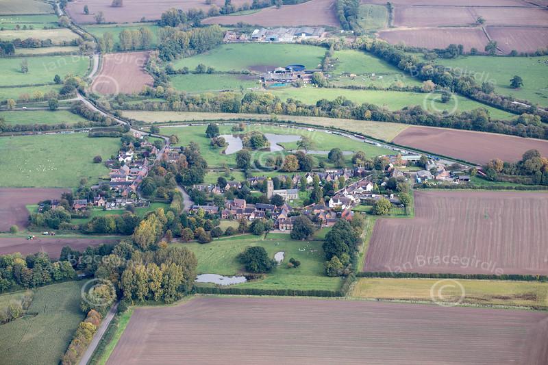 Aerial photo of Shackerstone.