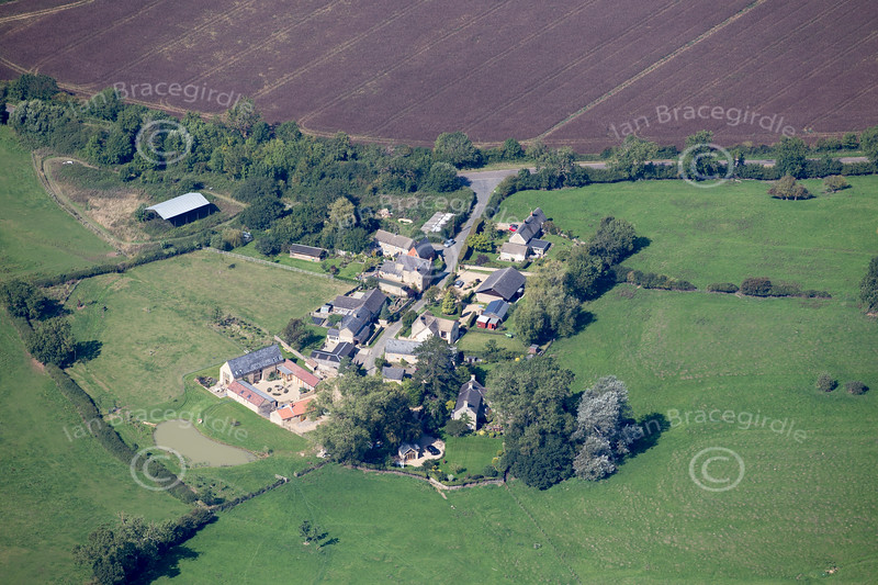 Aerial photo of Shotley in Northamtonshire.