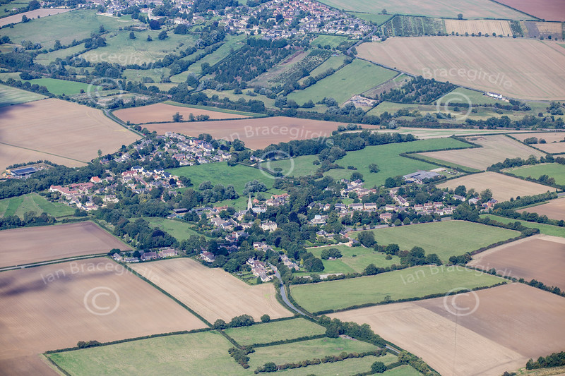 Aerial photo of South Luffenham in Rutland.