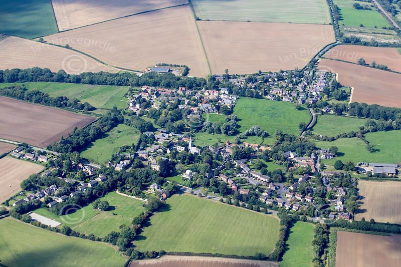 Aerial photo of South Luffenham in Rutland.
