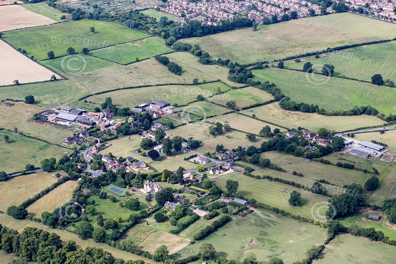 Aerial photo of Warkton in Northamptonshire.