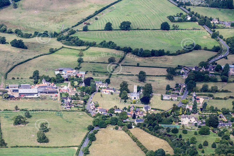 Aerial photo of Warkton.