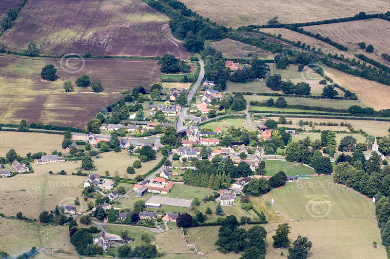 Aerial photo of Weekley in Northamptonshire.